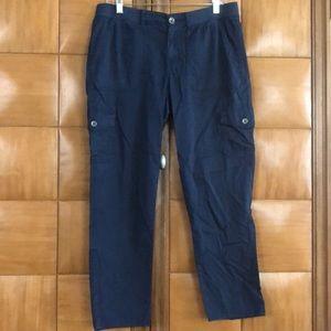 Sonoma Navy Blue Cargo Pants, Size 10.